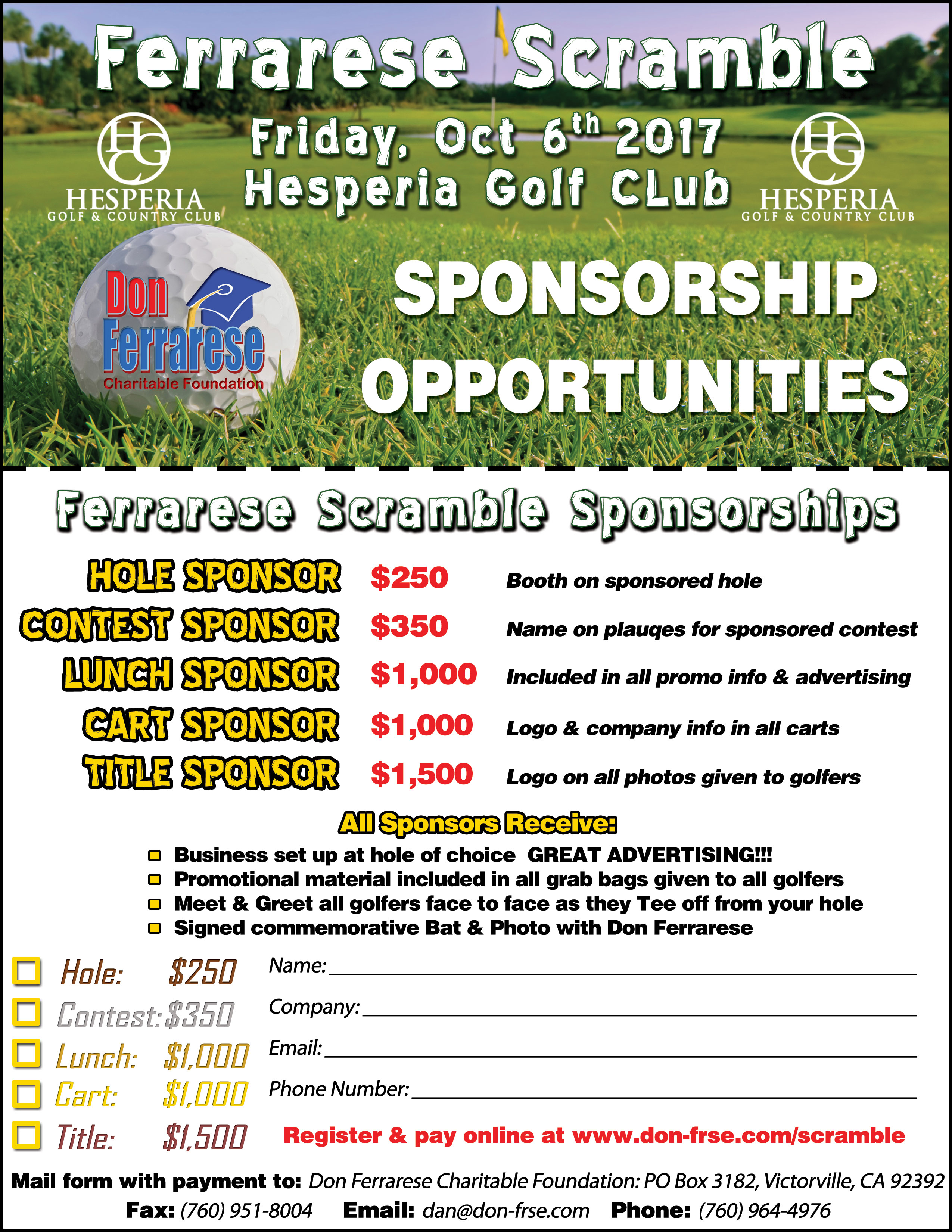 Ferrarese scramble sponsorship form click here thecheapjerseys Image collections